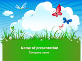 Nature & Environment: Summer Meadow PowerPoint Template #07697