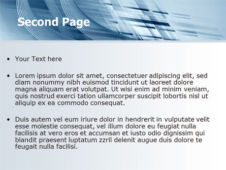 Pale Blue Theme PowerPoint Template Slide 2