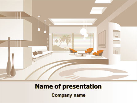 Interior Environment PowerPoint Template, 07699, Careers/Industry — PoweredTemplate.com