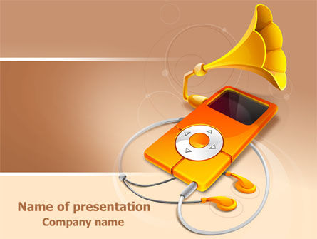 Technology and Science: Music Multimedia Player PowerPoint Template #07702