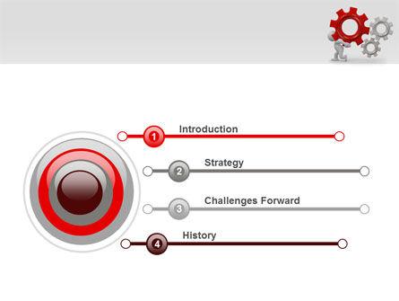 Gear Man PowerPoint Template Slide 3