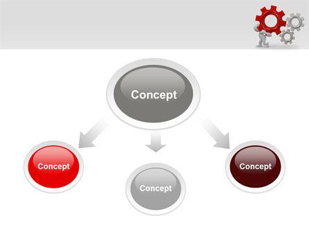 Gear Man PowerPoint Template Slide 4