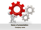 Utilities/Industrial: Gear Man PowerPoint Template #07705