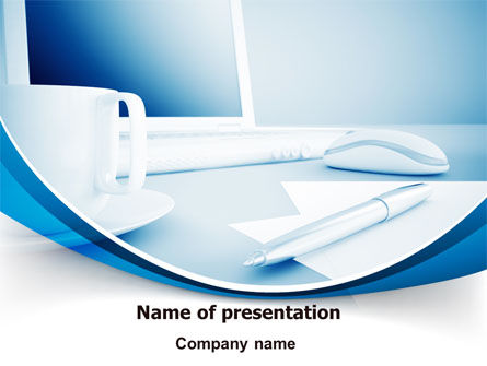 Computer Theme PowerPoint Template, 07706, Business — PoweredTemplate.com