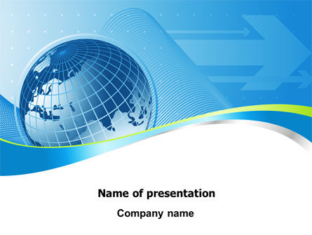 Global Telecommunication PowerPoint Template, 07709, Global — PoweredTemplate.com