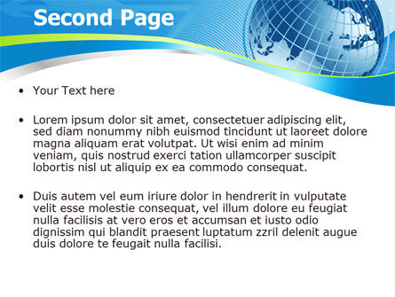 Global Telecommunication PowerPoint Template, Slide 2, 07709, Global — PoweredTemplate.com