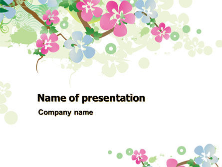 Spring Tree Theme Powerpoint Template Backgrounds