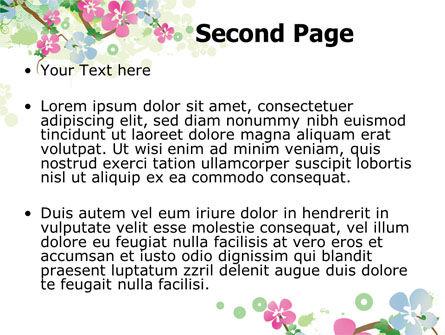 Spring Tree Theme PowerPoint Template, Slide 2, 07710, Nature & Environment — PoweredTemplate.com