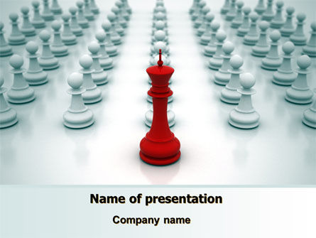 Education & Training: Chess King Ready To Fight PowerPoint Template #07712
