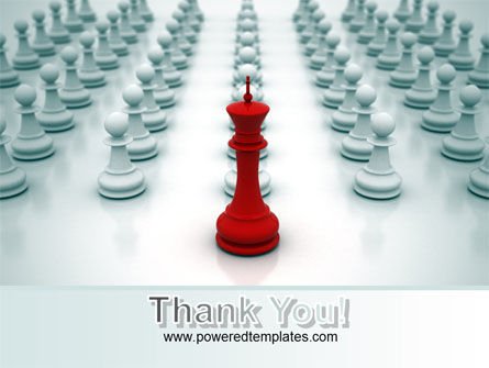 Chess King Ready To Fight PowerPoint Template Slide 20