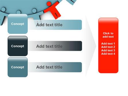 Man Cog PowerPoint Template Slide 12