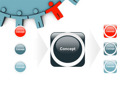 Man Cog PowerPoint Template Slide 17
