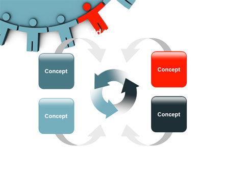 Man Cog PowerPoint Template Slide 6