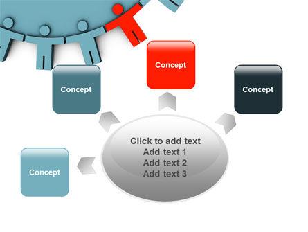 Man Cog PowerPoint Template Slide 7