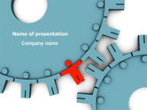 Consulting: Man Cog PowerPoint Template #07715
