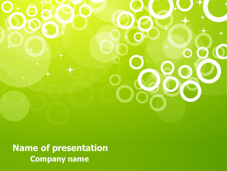 Green Bubbles Theme PowerPoint Template, 07717, Abstract/Textures — PoweredTemplate.com