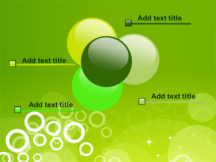 Green Bubbles Theme PowerPoint Template Slide 10