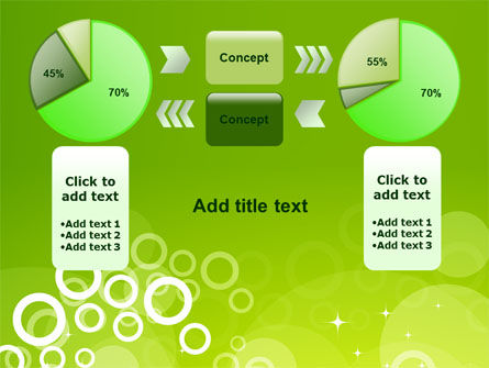 Green Bubbles Theme PowerPoint Template Slide 11