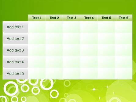 Green Bubbles Theme PowerPoint Template Slide 15