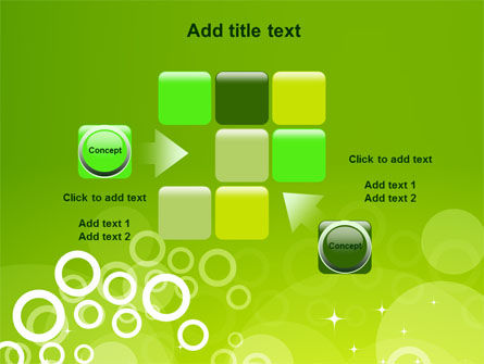 Green Bubbles Theme PowerPoint Template Slide 16