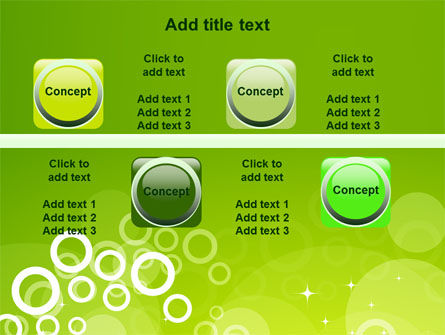Green Bubbles Theme PowerPoint Template Slide 19
