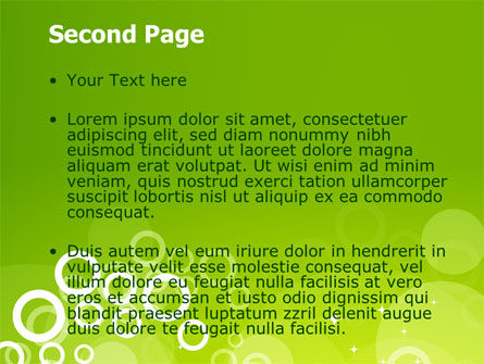 Green Bubbles Theme PowerPoint Template Slide 2