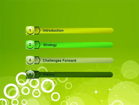 Green Bubbles Theme PowerPoint Template, Slide 3, 07717, Abstract/Textures — PoweredTemplate.com