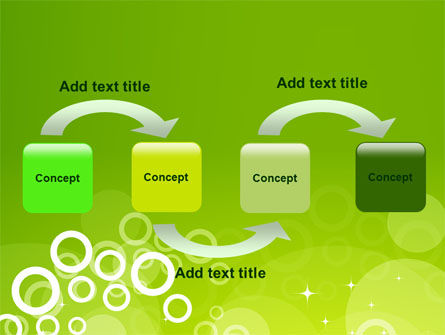 Green Bubbles Theme PowerPoint Template, Slide 4, 07717, Abstract/Textures — PoweredTemplate.com