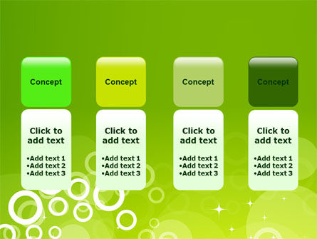 Green Bubbles Theme PowerPoint Template Slide 5
