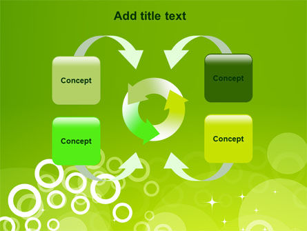 Green Bubbles Theme PowerPoint Template Slide 6