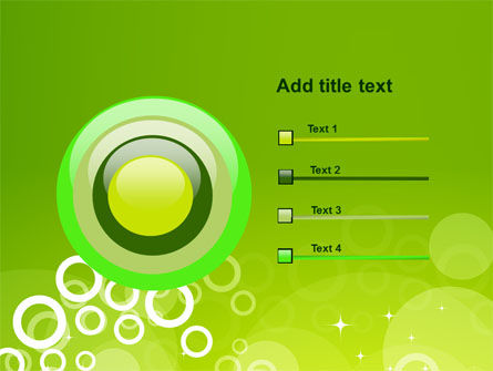 Green Bubbles Theme PowerPoint Template Slide 9