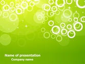 Abstract/Textures: Green Bubbles Theme PowerPoint Template #07717