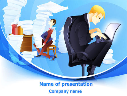 Procrastination PowerPoint Template, 07719, Technology and Science — PoweredTemplate.com