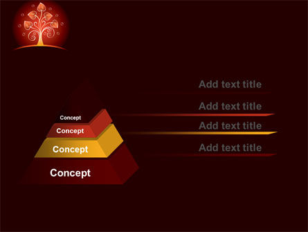 Glowing Tree PowerPoint Template Slide 12