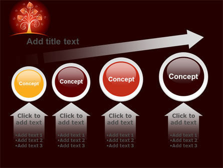 Glowing Tree PowerPoint Template Slide 13
