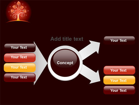 Glowing Tree PowerPoint Template Slide 14
