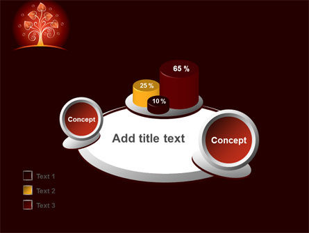 Glowing Tree PowerPoint Template Slide 16