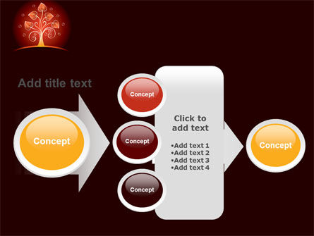 Glowing Tree PowerPoint Template Slide 17