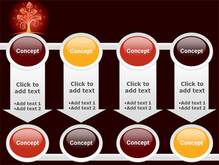 Glowing Tree PowerPoint Template Slide 18