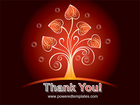Glowing Tree PowerPoint Template Slide 20