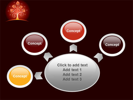 Glowing Tree PowerPoint Template Slide 7