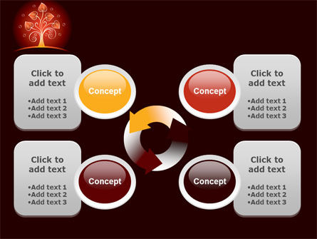 Glowing Tree PowerPoint Template Slide 9