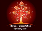Abstract/Textures: Glowing Tree PowerPoint Template #07721