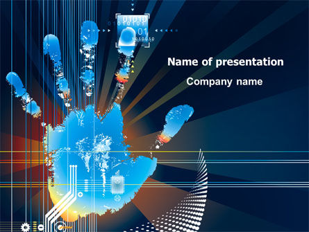 Technology and Science: Palm Print PowerPoint Template #07722