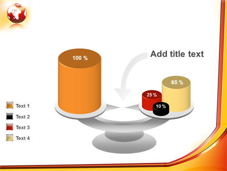 Orange Globe Theme PowerPoint Template Slide 10