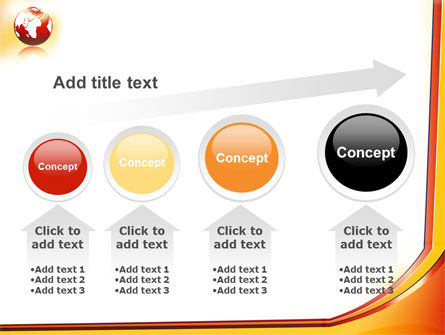 Orange Globe Theme PowerPoint Template Slide 13
