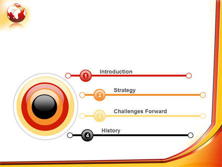 Orange Globe Theme PowerPoint Template, Slide 3, 07723, Global — PoweredTemplate.com