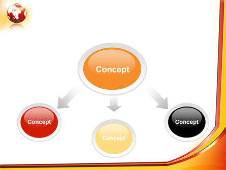 Orange Globe Theme PowerPoint Template Slide 4