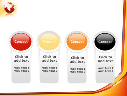 Orange Globe Theme PowerPoint Template Slide 5