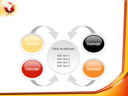 Orange Globe Theme PowerPoint Template Slide 6